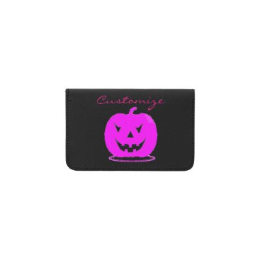 Halloween Themed Pink Jack o'lantern Halloween Thunder_Cove Business Card Holder