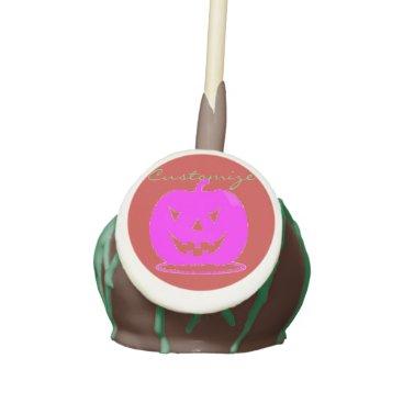 Halloween Themed Pink Jack o'lantern Halloween Thunder_Cove Cake Pops