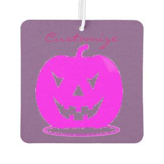 Pink Jack o'lantern Halloween Thunder_Cove Car Air Freshener