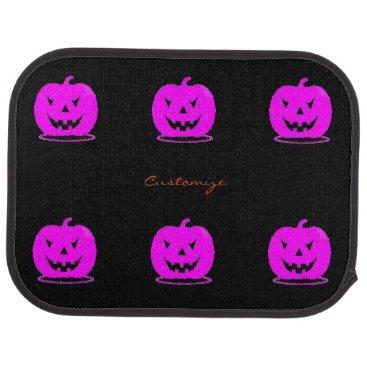 Halloween Themed Pink Jack o'lantern Halloween Thunder_Cove Car Floor Mat