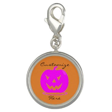 Halloween Themed Pink Jack o'lantern Halloween Thunder_Cove Charm