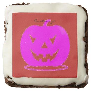 Halloween Themed Pink Jack o'lantern Halloween Thunder_Cove Chocolate Brownie