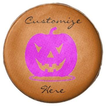 Halloween Themed Pink Jack o'lantern Halloween Thunder_Cove Chocolate Covered Oreo