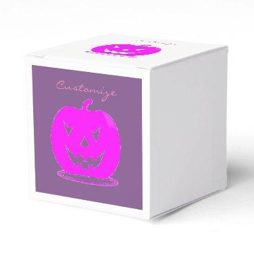 Halloween Themed Pink Jack o'lantern Halloween Thunder_Cove Favor Box