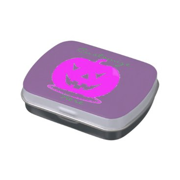 Halloween Themed Pink Jack o'lantern Halloween Thunder_Cove Jelly Belly Candy Tins
