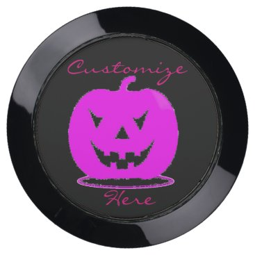 Halloween Themed Pink Jack o'lantern Halloween Thunder_Cove USB Charging Station