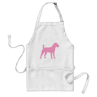 Pink Jack Russell Terrier Silhouette Adult Apron