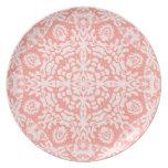 Pink Jacquard Lace Plate