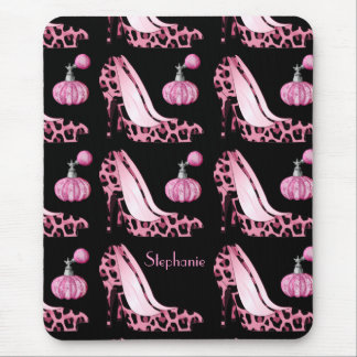 Pink Jaguar Stilettos & Purfume Bottles Custom Mouse Pad