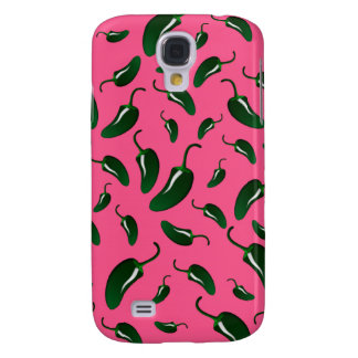 Pink jalapeno peppers pattern samsung galaxy s4 cover