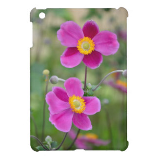 Pink japanese anemone flowers cover for the iPad mini