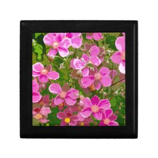 Pink japanese anemone flowers keepsake box