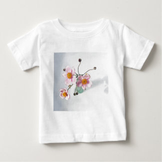Pink Japanese Anenomes in a Green Vase Baby T-Shirt