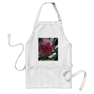 Pink Japanese Camellia Adult Apron