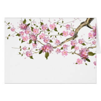 Pink Japanese Cherry Blossom Thank You Cards