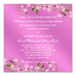 Pink Japanese Cherry Blossoms Wedding Announcements