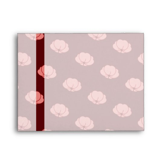 Pink Japanese Chrysanthemum Flowers Envelope