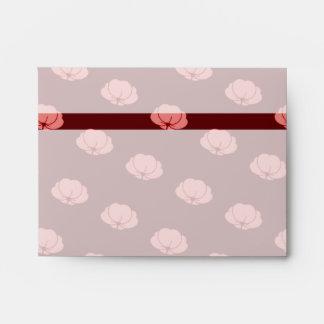 Pink Japanese Chrysanthemum Flowers Envelope