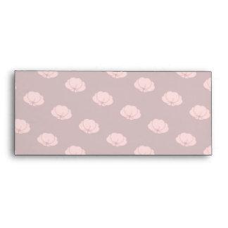 Pink Japanese Chrysanthemum Flowers Envelopes