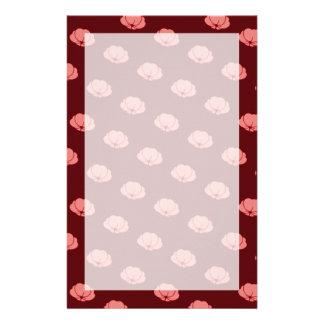 Pink Japanese Chrysanthemum Flowers Stationery