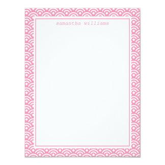 Pink Japanese Seigaiha Pattern Card