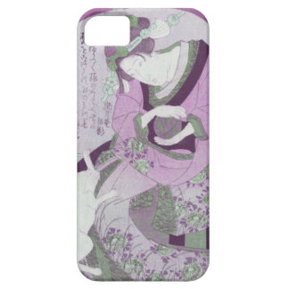 Pink Japanese Woman & Cat / ReMix of Jewel Utagawa iPhone 5 Covers