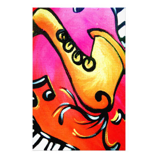 Pink Jazz Music Stationery
