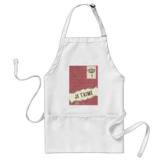 Pink Je t'aime (French I Love You) Aprons