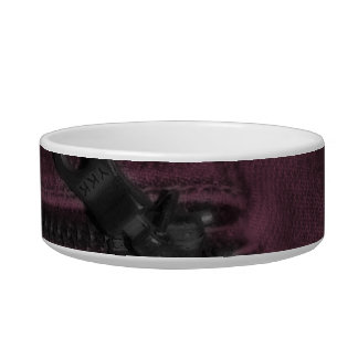 Pink Jean Zipper Pocket Bowl
