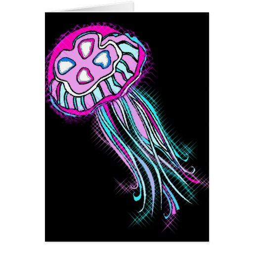 Pink Jellyfish Greeting Card