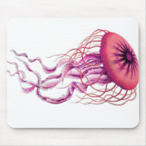 Pink Jellyfish Nautical/Coastal Mouse Pad