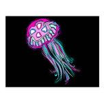 Pink Jellyfish Post Card