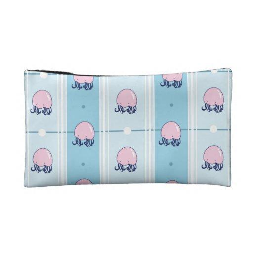 Pink Jellyfish Station Wristlet
