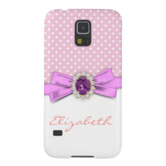Pink jewel on fuchsia bun galaxy s5 case