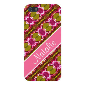 Pink Jewel Pattern Cover For iPhone SE/5/5s