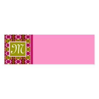 Pink Jewel Pattern Mini Business Card