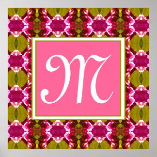 Pink Jewel Pattern Poster