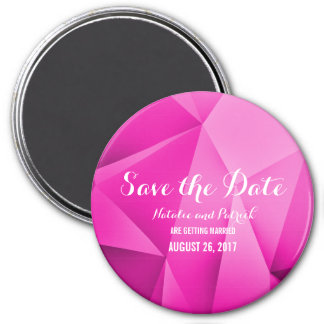 Pink Jewel Tones Save the Date Magnet