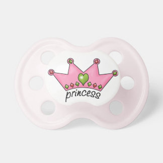 Pink Jeweled Crown Princess Baby Pacifier