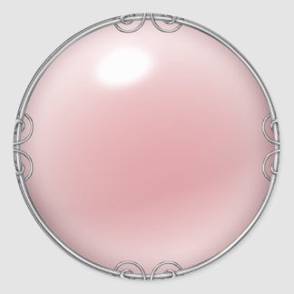 Pink Jeweled Pearl Stickers