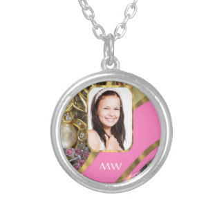 Pink jewelry personalized background
