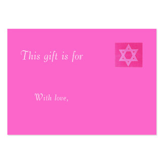 Pink Jewish Gift  Card Business Card