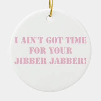 Pink Jibber Jabber Ceramic Ornament