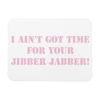 Pink Jibber Jabber Rectangular Photo Magnet