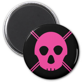 Pink Johnny Skull Magnet