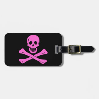 Pink Jolly Roger Tag For Bags
