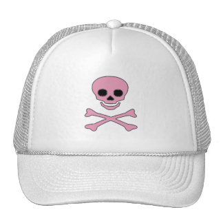 Pink Jolly Roger Pirate Cap