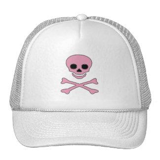 Pink Jolly Roger Pirate Cap Trucker Hat