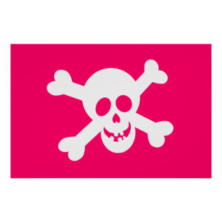 Pink Jolly Roger Poster