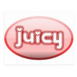 pink juicy postcard